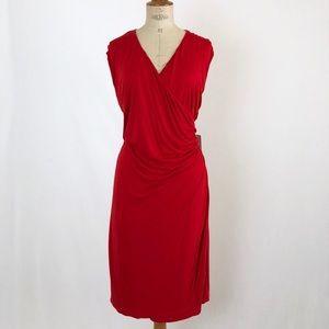 Lauren Ralph Lauren red wrap dress NWT stretchy